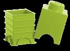 40011220 LEGO Storage Brick 1 x 1 - Light Green (Lime)