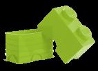 40021220 LEGO Storage Brick 1 x 2 - Light Green (Lime)