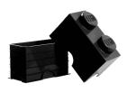 40021733 LEGO Storage Brick 1 x 2 - Black