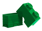 40021734 LEGO Storage Brick 1 x 2 - Dark Green