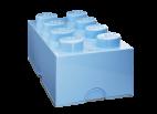 40041736 LEGO Storage Brick 2 x 4 - Light Blue