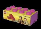 40041739 LEGO Storage Brick 2 x 4 - Medium Pink (Bright Purple)