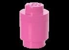 40301739 LEGO Storage Brick 1 Round - Medium Pink (Bright Purple)