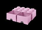 40061738 LEGO Storage Drawer 2 x 4 - Light Pink